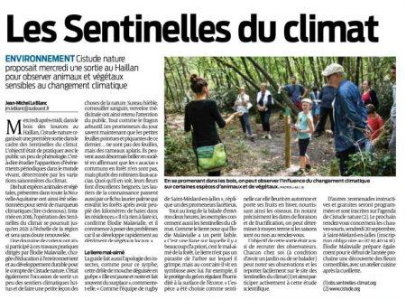 2019.09.14_SudOuestBordeaux_Les Sentinelles du climat